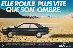 1982 renault fuego les publicités automobiles