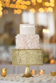 pink white gold wedding top 22 glittery gold wedding cakes for 2016 trends