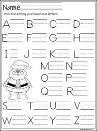 free santa capital letter writing practice page terrific for