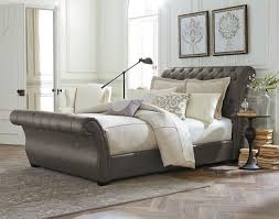 Bedroom Decorating Ideas With Sleigh Bed Tufted Sleigh Bed King Design Modern King Beds Design