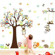 stickers chambre b b arbre stickers muraux repositionnables bebe stickers repositionnables