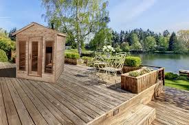 outdoor red cedar cabin sauna 6x4 dundalk canada barrel saunas