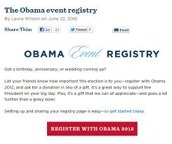 register for wedding gifts obama s gift registry forget the wedding gifts give to