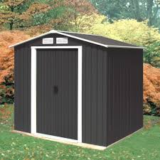 emerald anthracite parkdale 6x8 metal shed