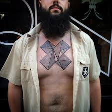 chest tattoo design geometric linework chest best tattoo design ideas