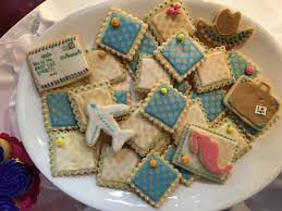 Travel Theme Iced Sugar Cookies Travel Theme Farewell Party Farewell Party