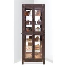 Corner Curio Cabinet Kit Display Cabinets You U0027ll Love Wayfair