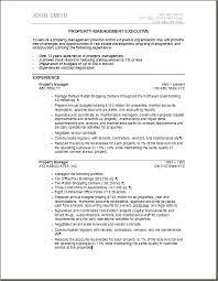 Sample Resume For Property Manager by Residential Property Management Resume Free Resume Templates