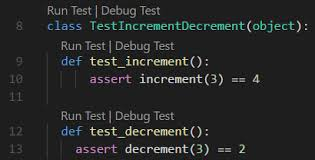 command pattern unit test unit testing python in visual studio code