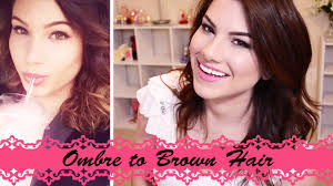 how to diy from ombre to brown hair youtube