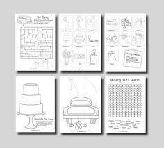 wedding activity book design divertenti etsy weddings