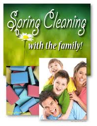how to clean your house in the spring with family