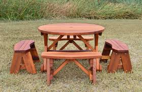 Table Gratifying Round Picnic Table Woodworking Plans Famous by Circular Picnic Table Images Table Design Ideas