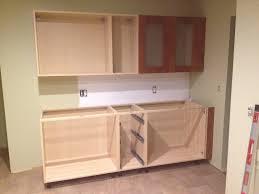 Kitchen Cabinet Filler Strips Our Ikea Kitchen First Cabinet Installation