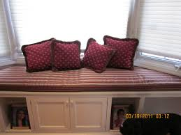 window seat cushions custom cushions french mattress quilting red color patterns of pillows on bay window seat cushion with stripes white and red also