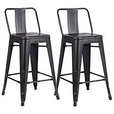 24 Bar Stool With Back Amazon Com Merax Low Back Indoor And Outdoor Metal Chair Barstool