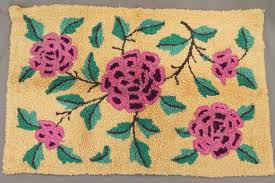 Rug Hooking With Yarn Vintage Rug Making Tools And Wool Fabric