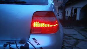 vw led tail lights custom vw mk4 rear lights led youtube