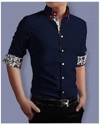 2017 new model shirts 100 cotton fashion high collar mens dress