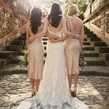 chagne bridesmaid dresses runway to wedding day sequin bridesmaid dresses pretty happy
