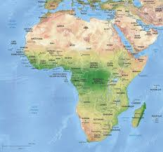 World Map Of Africa by Vector Map Africa Continent Shaded Relief One Stop Map