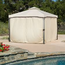 Steel Canopy Frame by 10ft X 10ft Steel Frame Gazebo With Polyester Canopy And Screen In