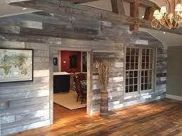barn wood family room feature wall country living room