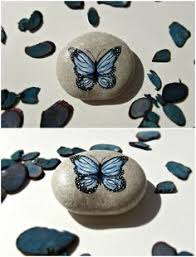 Butterfly Desk Accessories Painted Stones Paperweight Tree Desk Accessories Gift