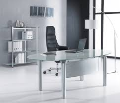 minimalist oval glass office desk for executive ideas for the