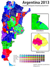 Midterm Election Map by Argentina 2013 World Elections