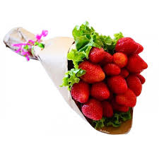 strawberry bouquet strawberry bunch bouquet fruit couture