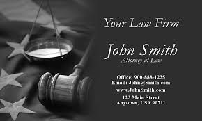 Business Cards Attorney Lawyer Business Card With American Flag Design 401201