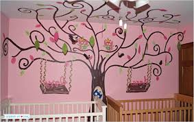 decor tree wall painting bedroom designs for teenage girls kids