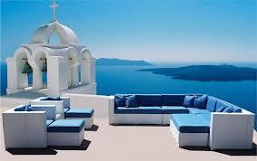 white mirage euro style wicker sectional sofa las vegas patio furniture
