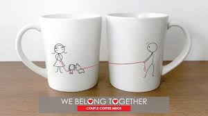 his hers mugs boldloft we belong together his hers coffee mugs
