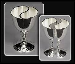 wedding goblets tanday 5020 silver shaped engravable wedding toasting