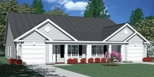 duplex plans with garage in middle house plans duplex row home planssmall with garage in middle