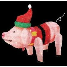 Home Depot Holiday Decorations Outdoor Trim A Home 28 U201d Lighted Angel Pig Outdoor Christmas Decoration