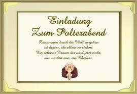 einladung zum polterabend polterabend sprüche einladung
