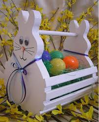 wooden easter baskets wooden easter basket easter bunny basket easter party