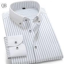 striped shirt men long sleeve dress shirt brand men shirt slim fit