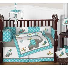 sweet jojo designs mod elephant 9 piece crib bedding set u0026 reviews