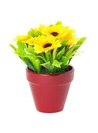 Artificial Sunflowers Artificial Sunflowers With Clay Pot Stock Photos Image 34563703
