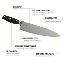 Kitchen Knives German Amazon Com Sharp Pebble 8 Inch Chefs Knife Professional High