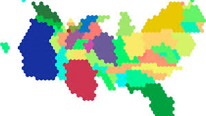 Columbia World Map by Map Club U2014 Cartogram Hexmaps With Tilegrams Digital Social