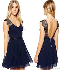 blue lace dress navy blue lace backless chiffon dress fashion dresses