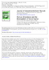 festival attendance and the development pdf available