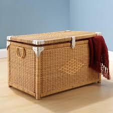 wooden storage chest trunk decorating ideas using storage chest