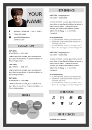 new resume format 2015 template ppt border powerpoint resume template