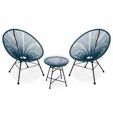 acapulco chaise ensemble de 2 fauteuils acapulco chaise oeuf design rétro avec